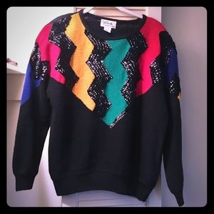 Sweaters - Vintage Beaded Sweater ❄️